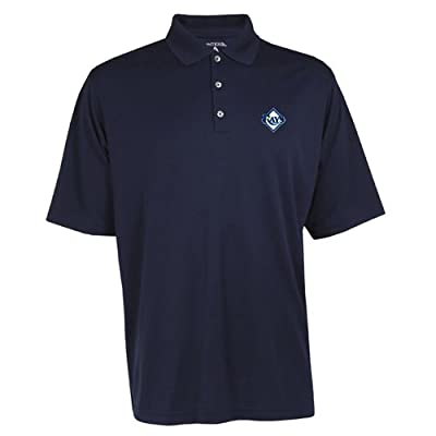 Antigua Men's Tampa Bay Rays Exceed Desert Dry Xtra-Lite Moisture Management Piq