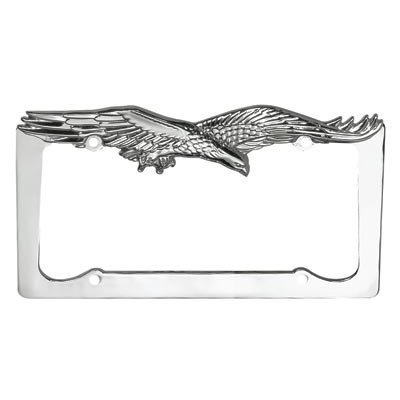 Chrome Flying Eagle License Plate Frame (Eagle License Plate Frame compare prices)