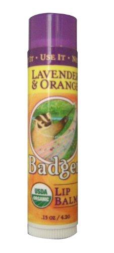 BADGER バジャー バジャー クラシックリップバームスティック ラベンダー&オレンジ 4.2g