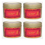 Shearer Candles Hollyberry & Clove Scented Tin 4x pack