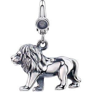 Clevereve Designer Series Sterling Silver Lion Charm 14.0 X 16.0Mm