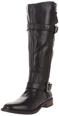 Steve Madden Women's Sonnya Knee-High Boot,Black Leather,5.5 M US