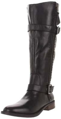 Steve Madden Women's Sonnya Knee-High Boot,Black Leather,5.5 M US