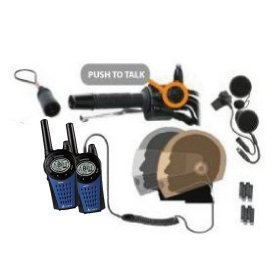 MOTORCYCLE MOTORBIKE TO MOTORBIKE 2 WAY COBRA RADIOS INTERCOM FULL FACE (CLOSED) HELMET HEADSET SYSTEM 12KM RANGE + VOX Adaptor for Motorbike Intercom Headsets (PUSH TO TALK OR VOICE ACTIVATED)
