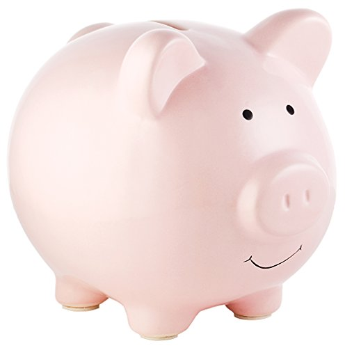 Pearhead Ceramic Piggy Bank, Pink