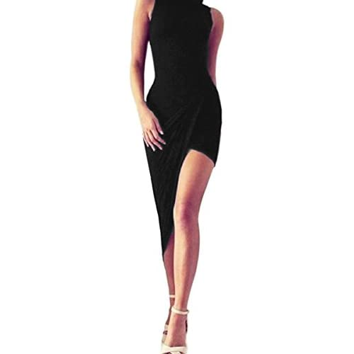 Bandage Irregular dress - Sexy Womens Bodycon Maxi Long Ball Gown Evening Party Cocktail Dress 8-12