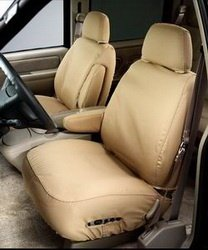 Covercraft SeatSaver Front Row Custom Fit Seat Cover for Select Ford F-150 Models - Polycotton (Tan)