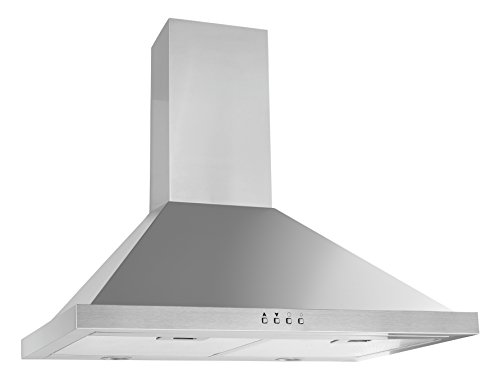 Ancona Pyramid with Rim 600 CFM Stainless Steel Wall Mount Range Hood, 30-Inch