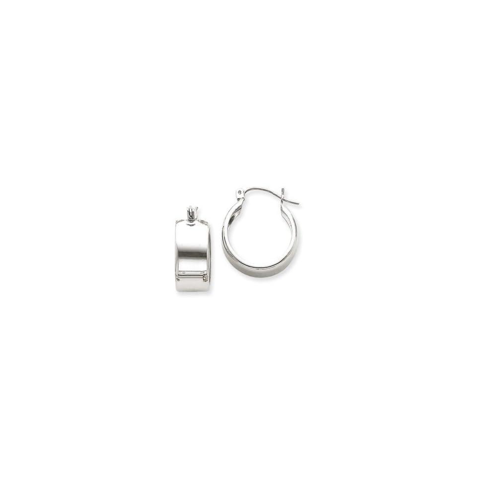 14k Gold White Gold Hoop Earrings