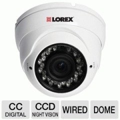 LOREX LDC7081 Varifocal Super Plus Indoor/Outdoor Dome Security Camera (White)