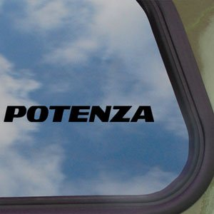 Potenza Tires Black Decal Car Truck Bumper Window Sticker