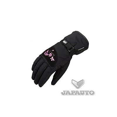 FURYGAN Flower Lady - Gants Moto Textile pour Femme Noir/Rose