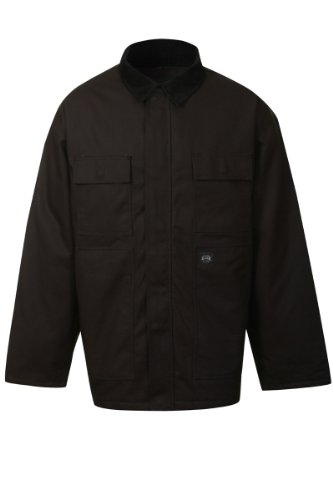 KEY Chore Coat - Insulated Duck Chore work Jacket Mens - Black