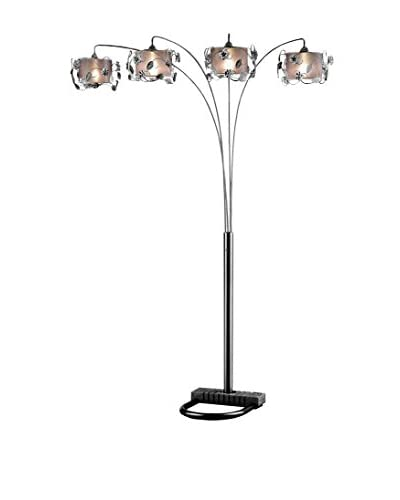 ORE International Crystal Arch Lamp, Silver