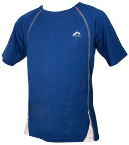 Mens More Mile Royal Blue with White panel PALERMO short Sleeve running top