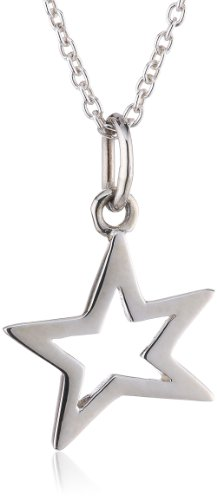 Dew Sterling Silver Small Open Star Pendant 90C6HP