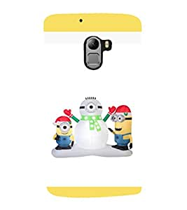 printtech Minions Christmas Snowman Back Case Cover for Lenovo Vibe K4 Note