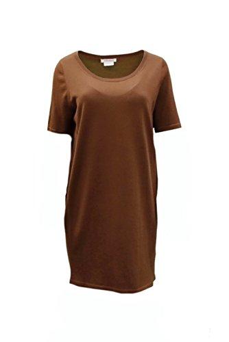 marina-rinaldi-womens-virgin-wool-tunic-sweater-top-sz-s-brown-130030mm