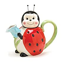Large 42 Oz Ladybug Teapot For Kitchen Decor