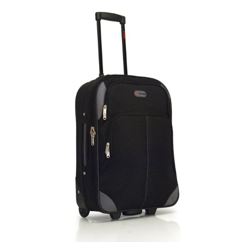 Bordcase Koffer Reisekoffer Trolley Stoff schwarz