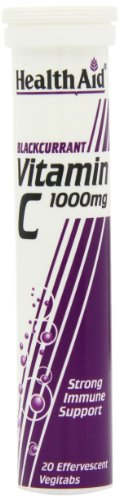 HealthAid Vitamin C 1000mg - Effervescent (Blackcurrant Flavour) - 20 Tablets