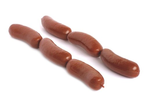 Natural Looking Hard Plastic Decorative Food - Hot Dog Links, 10 Pc/Pk (Hot Dog Links compare prices)