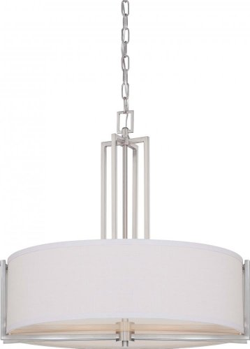 Nuvo 60/4756 Gemini Brushed Nickel Four Light Pendant