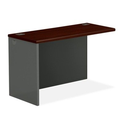 38000 Series Return Shell, Left, 60w x 24d x 29-1/2h, Mahogany/Charcoal by HON (Catalog Category: Furniture & Accessories / Desks)