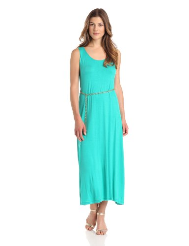 Tiana B Womens Sleeveless Maxi with Belt