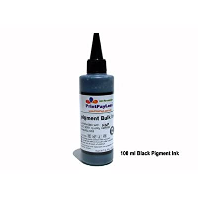 Ink Revolution PrintPayLess TM brand, One bottle (100ml) of Pigment Bulk Refill Ink, Specially Formulated for HP 88, HP88, HP 84, HP84, HP564, HP 564, HP 920, HP920, HP940, HP 940, HP 10, HP 11, Refillable ink cartridges and CISS / CIS (continuous ink supply system)
