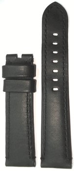 Panatime 22Mm Xl Black Stitch Soft Calf Leather With Black For Deploy