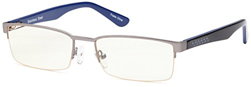 Find Discount GAMMA RAY GR007 Gaming Glasses in Stainless Steel Spring Hinge Semi Rimless Frame Anti...