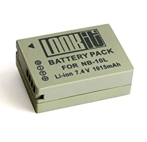 LOOKit® - Batterie NB-10L Lithium-Ion - 1015mAh - pour Canon PowerShot SX50 HS, SX40 HS , PowerShot G15, PowerShot G1 X