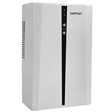 Ivation IVADM45 Powerful Mid-Intelligent Dehumidifier w/Auto Humidistat - For Spaces Up to 2,200 Cubic Feet
