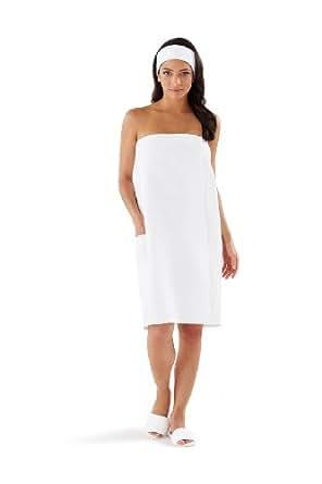 Boca terry women 39 s spa wrap 4xl waffle poly cotton at - Bath wraps bathroom remodeling reviews ...