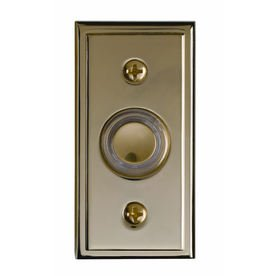 Polished Brass Lighted Doorbell Button