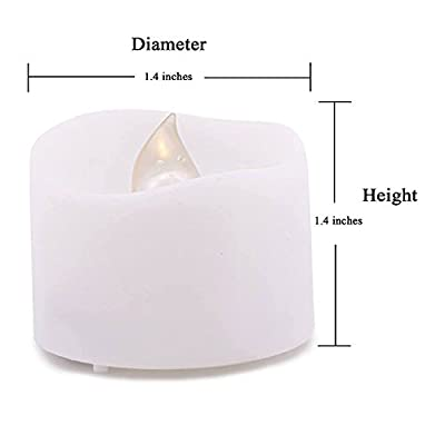 Mars Flameless Candles - 12 White Bright Battery Operated Tea Lights Romantic Unscented Fake Rose Petals Bulk - For Votives, Tealight Holders Fall Decor, Diwali, Halloween, Christmas Decorations
