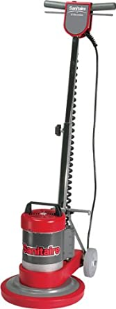 "Sanitaire SC6001B Commercial Upright Rotary Floor Cleaner Machine with 0.5 HP Motor, 12"" Brush Size"