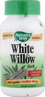 Natures Way White Willow Bark 100 Capsules