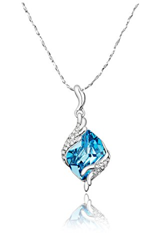 Yellow Chimes Swarovski Crystal Pendant with 925 Silver for Women and Girls