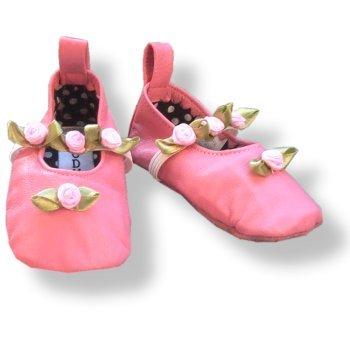 Cheap Infant Girls Leather Slippers  Pink Rosette Ballerina  98961 (B000I9UEKY)