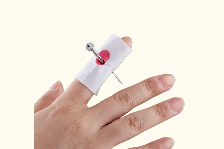 AWW!® Scary Pranking Bent Nail With Bandage- Nail Through Finger Gag Toy - 1