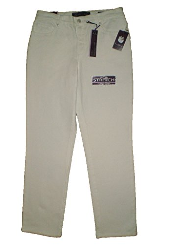 Gloria Vanderbilt Amanda Stretch White Denim Embrodered Jeans New