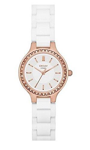 14 ny2251 DKNY HOLIDAY de acero inoxidable para hombre de Cerámica Color Blanco para Mujer Reloj Mineral