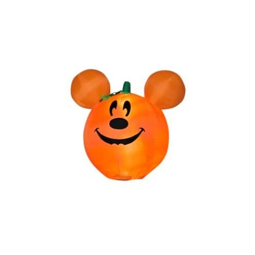 Disney Mickey Mouse Ears Pumpkin Halloween 3 Ft. Inflatable