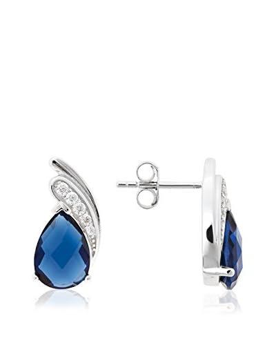 Ariadna & Alba Plata Pendientes Blue Drop plata de ley 925 milésimas