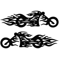 Tribal Motorcycle Graphics : Motorcycle Flame Mirror Wall Size Tribal Decal Vinyl Decor Graphics ...