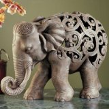 Design Toscano NG32745 Anjan the Elephant Jali Sculpture