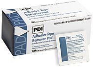 "Pdi Adhesive Tape Remover Pad Packet Size 2x2 1/4"" Applicator 1 1/4x2 5/8"" - Box of 100"