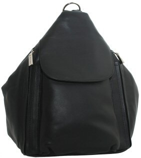 Visconti Leather Backpack Style 18357 Black